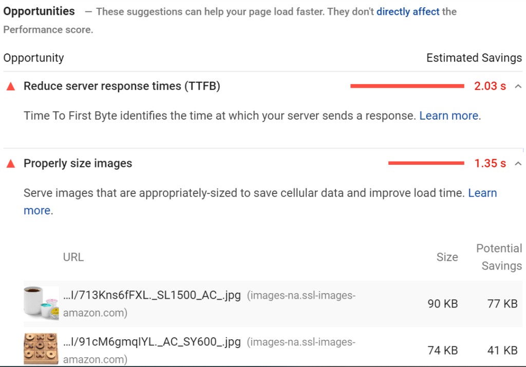 Google Pagespeed Analytics Opportunities for SEO
