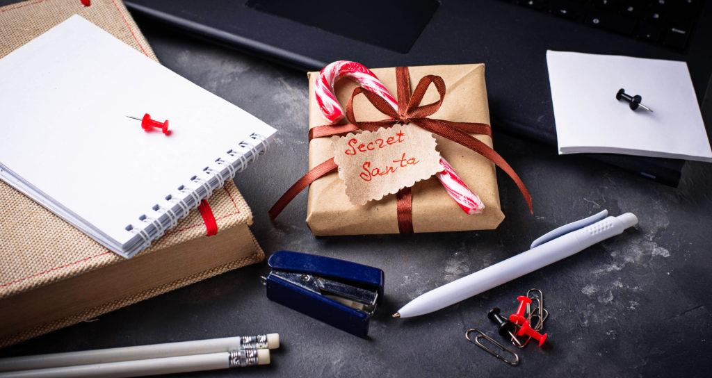 secret santa picture for online holiday marketing article
